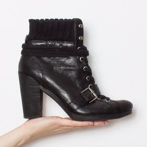 Black witchy Nine West heeled boots